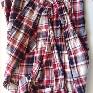 Forever 21 red white and blue flannel with buttons